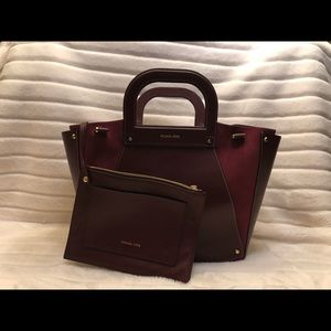 MK Extra Large Leather and Suede bag